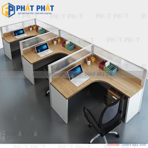 Bàn văn phòng có vách ngăn – Sản phẩm nhiều tiện ích